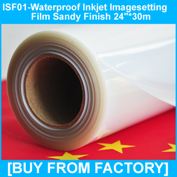"""Inkjet Film Clear 0.1mm for Printers and Plotters 24""""*30M"""