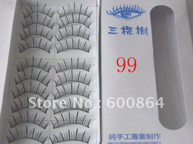 50pairs 99# Fashion Eyelashes eyelash extension False Eyelashes Fake Eyelashes artificial eyelash Hand made Eye lash