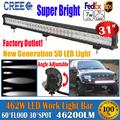 31 462W 5D Cree Chips 12V 24V Combo Beam Spot Flood LED Light Bar Straight Strip