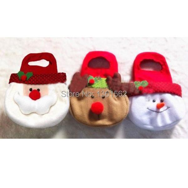 Adorable Christmas Candy Gift Bag Decor Reindeer Snowman Santa Claus Shape Gift XnxZ(China (Mainland))