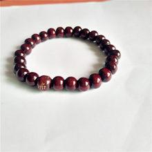 Этнический стиль деревянный шарик стрейч браслет lap небольшой бусины для женщин и мужчин jewelry цветная цепочка(China)