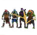 2014 New high quality 4 pcs lot 12cm Anime Cartoon TMNT Teenage Mutant Ninja Turtles PVC