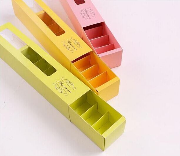 26.1*5.1*5.3cm Window Macaron Box Cake Box Chocolate Boxes ,100piece\lot .Free shipping(China (Mainland))