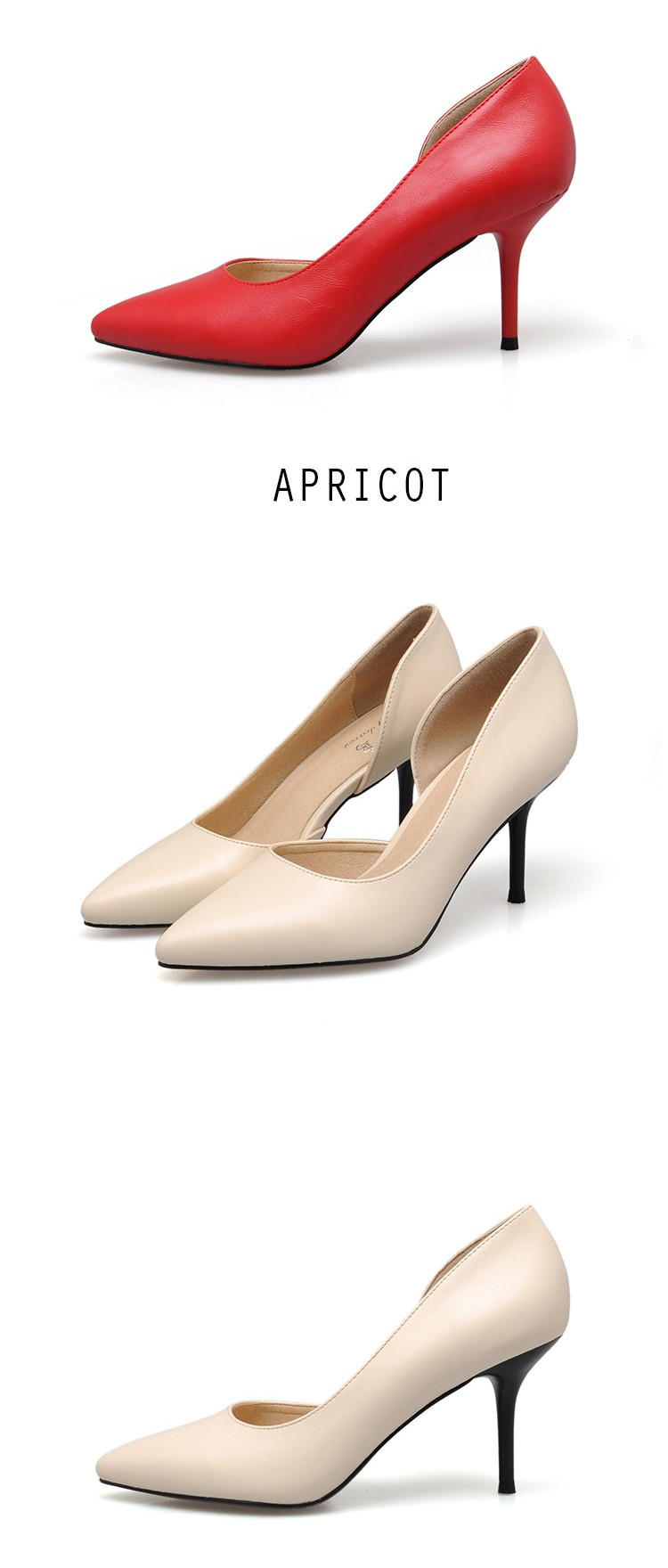 New 2016 Spring Summer Fashion OL Lady Shoes Sexy Thin heel Pointed Toe Women Pumps High Heels Wedding Party Shoes Woman D50