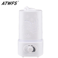 ATWFS Aromatherapy Air Humidifier Fogger LED Night Light Carve Aroma Diffuser Mist Maker Diffuser for Home