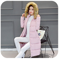 Plus Size 2016 Fashion Women Parka Winter Faux Fur Jacket Female Long White Duck Down Cotton