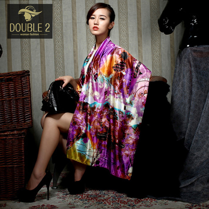 Super Deal Luxury Brand Long Silk Scarf Shawl Printed Blanket Stole Bandana for Woman Foulard femme cape echarpe poncho for lady(China (Mainland))