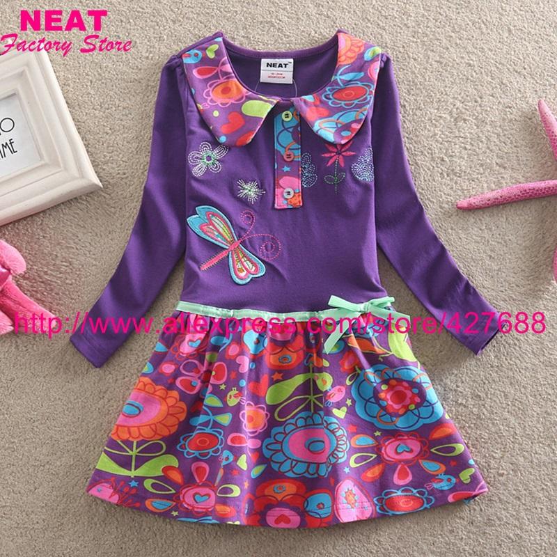 2015 new NEAT brand dress baby girl print lace tutu party princess dresses vestido children clothes kids wear nova cute L360