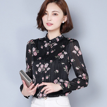 Buy 2017 New Women Casual Autumn Winter Basic Chiffon Blouse Top Shirt printing Floral Full sleeves OL blusas Work Wear Plus Size for $16.06 in AliExpress store