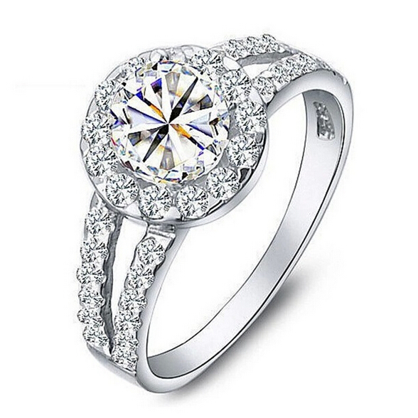2015 white gold plated engagement rings for with