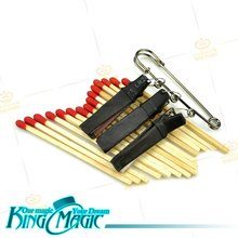 Multi Lit Match Producer Free Shipping King Magic Tricks Props Toys Email Video To You(China (Mainland))