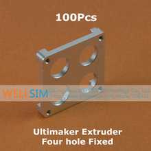 100Pcs Extruder four hole Fixed for Ultimaker Extrusion Aluminium Block Bracket High Quality For 3D Printer Accessories