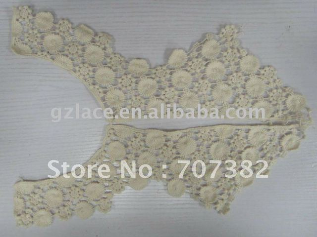 Hot sale!! High quality and cheap water-soluble lace L08,collar lace trim,creative design,FREE SHIPPING!!!