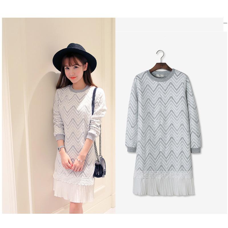 Best Women Winter Dresses 2015 long sleeve Bodycon Dress Autumn Winter Loose Elbise Dames Jurken Plus Size Gray Color Clothing(China (Mainland))