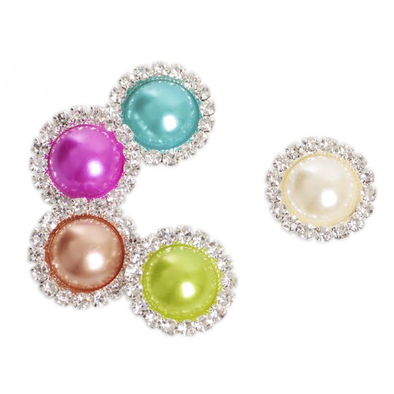 2015 flatback crystal pearl button metal rhinestone for Decorative pins for crafts