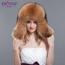 Unisex fur hat for winter whole fox fur & raccoon fur cap 2015 Russia new fashion style women real fur hat high-end hot sale(China (Mainland))