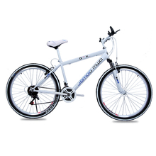 Double Disc Brake Mountain Bike Bicycle 24, 26 Inch 21,24,27 Speed Fashion Road Bike for Men ,High Quality,YZS026