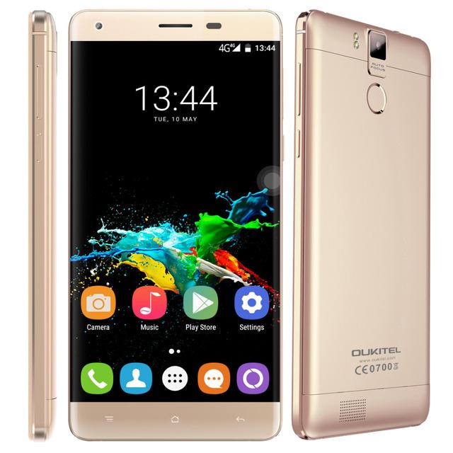 K6000 OUKITEL Pro Original Celular 32 GB ROM 3 GB RAM de 5.5 polegada Android 6.0 Octa Núcleo OTG GPS 16.0MP MTK6753 4G LTE 6000 mAh