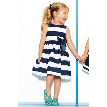 2014 summer elegant striped baby dress with bowknot/Good quality casual girl dress/New arrival