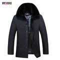 Kış Şık erkek Marka Ördek Aşağı Ceket Sıcak Katı Standı yakalı Aşağı Ceket Rahat Aşağı Parka Palto Slim Fit Mens ceketler