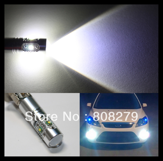 2 pieces / lot H1 25W High Power Cree chip LED Xenon White Fog Lights Daytime Running Bulbs