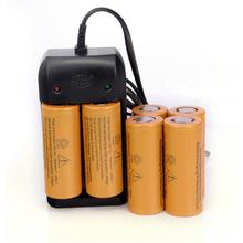 6 шт. / серия 3.7 В 26650 8000 мАч литий-ионный аккумулятор bateria для высокий свет фонарика х зарядное устройство