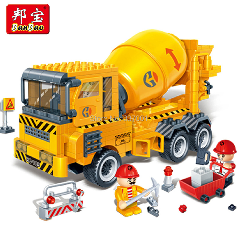 2015, latest city engineering concrete block assembly educational toys dump truck Compatible lego - Online Store 337001 store