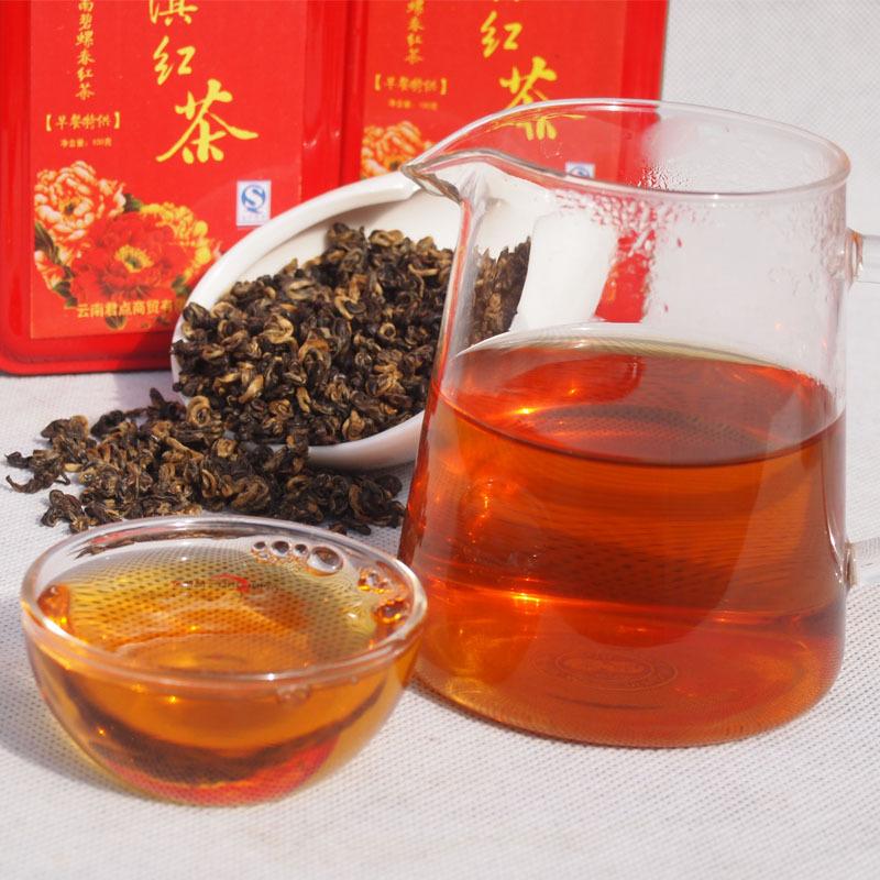 BT04 Tea yunnan dian hong black tea super small pilochun loose tea 100g red whorl warm