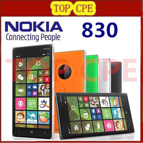 "Original Nokia Lumia 830 Unlocked 5.0"" 16GB Quad Core 1.2GHz 10MP Windows 8.1 GPS WIFI 3G Unlocked Mobile Phone Refurbished(China (Mainland))"