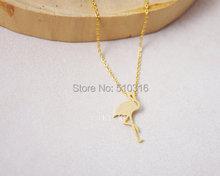 Collares Mujer Women Flamingo Necklace Bird Collar silver 925 statement Body Women Friendship Men Jewelry Collares