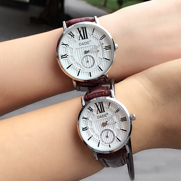 2016 New Autumn Winter Korean Style Fashin Leather Band Vintage Lovers Watches Lovers Gifts Student Watches(China (Mainland))