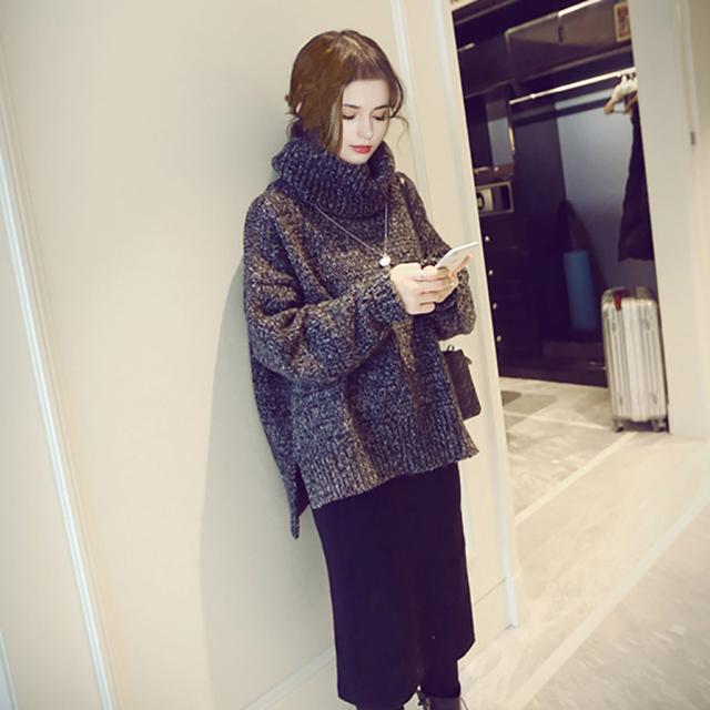 Горячая распродажа зимой свитер женщины 2015 новый корейский мода водолазка женщин ...