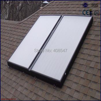 split high pressure blue titanium flat panel solar thermal collector