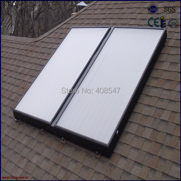 split high pressure blue titanium flat panel solar thermal collector(China (Mainland))