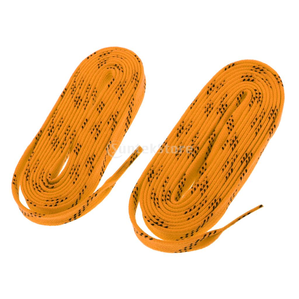 1 Pair Premium Durable Strong Nylon Sports Ice Hockey Skates Boots Shoe Laces Shoelace 96 108 120 inch - All Colors & Sizes