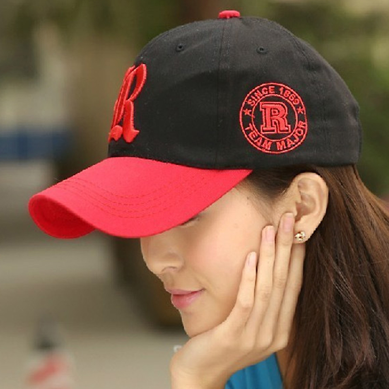 Fashion collision color snapback baseball cap spell color lovers baseball cap summer and autumn unisex style 6color 1pcs(China (Mainland))