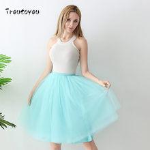 6 слоев 65 см длинная Тюлевая юбка элегантная плиссированная юбка-пачка летние юбки женские 2018 стиль Лолита faldas saia feminina Jupe(China)