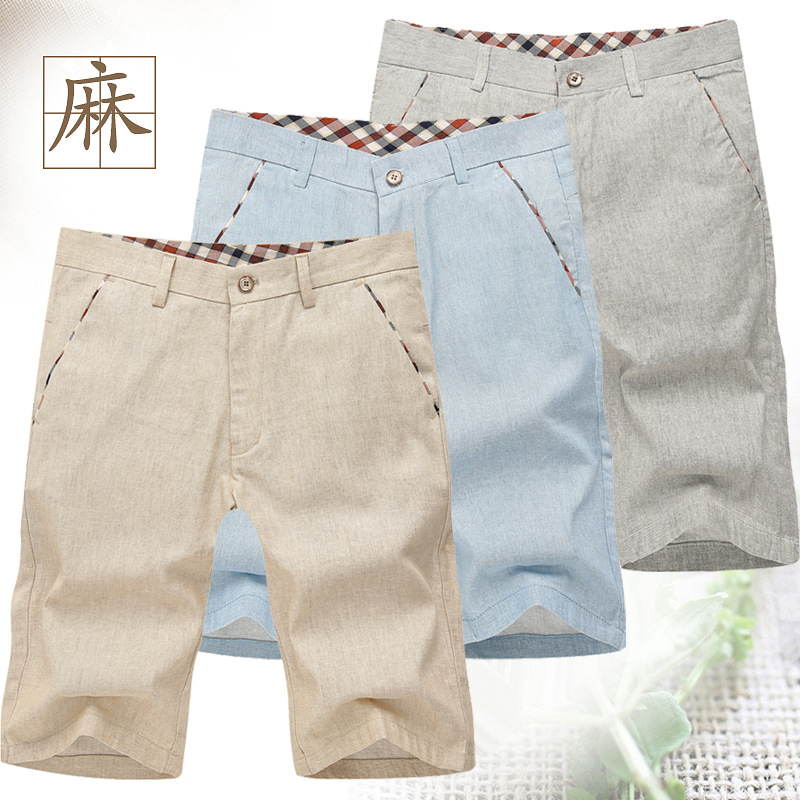 Summer New 2015 Men Beach Floral Shorts Casual Dress Cotton Linen - Free dream city store