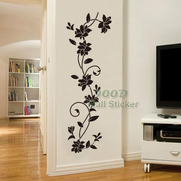 flower vine wall sticker diy home decoration removable wall stickers home wall decor ideas