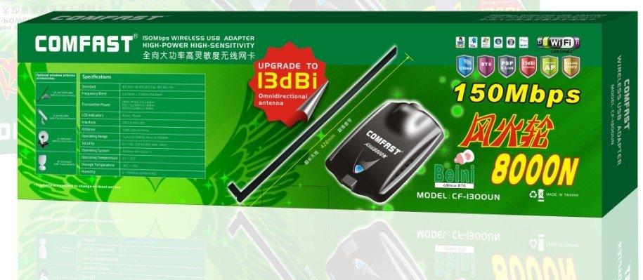 Hot wheels 1500Mw High Power RTL8187L Chipset BT6 COMFAST 8000N USB Wireless Adapter Wifi lan card 150 Mbps Free Shipping