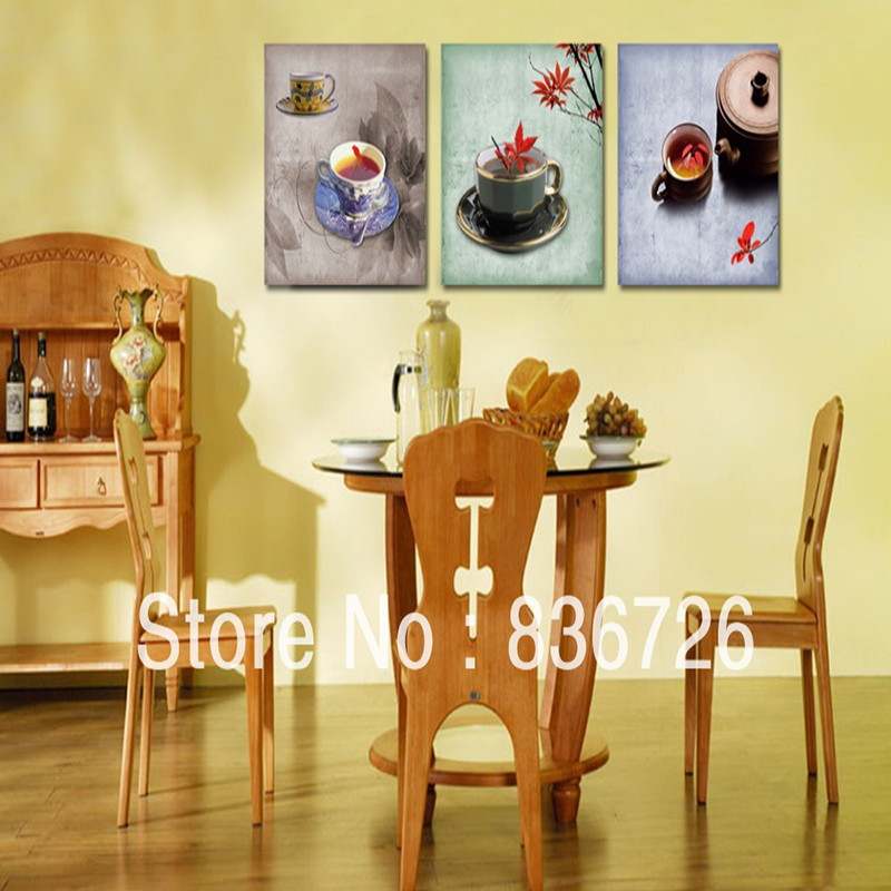 3 piece canvas wall art kitchen wall art wall panels for Dining room wall art canvas
