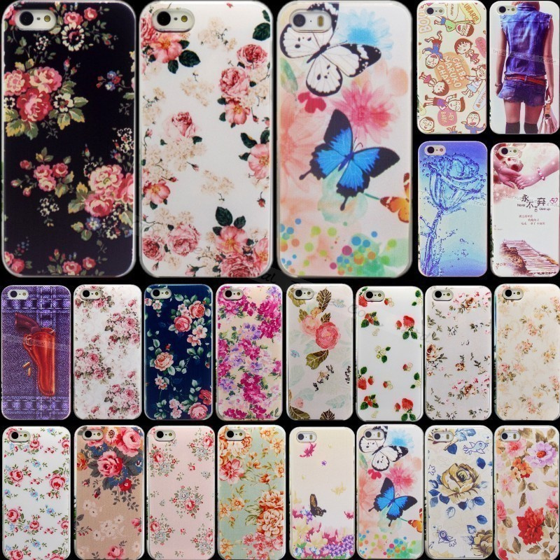 Гаджет  KK-77: Shell For Apple iPhone 5C Cases iPhone5C Back Case Cover Printing Flower Floral Cell Phone Cases:CBVV XLLRR OPAAA DTTT DD None Телефоны и Телекоммуникации