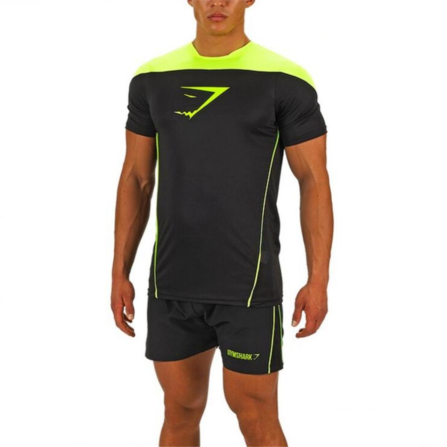 2016 Gymshark LEICA kompresi t shirt, Gym laki-laki binaraga dan kebugaran kemeja olahraga, Pria pria otot(China (Mainland))