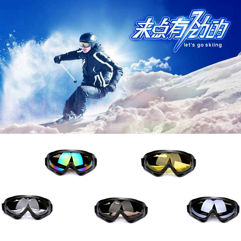 2015 hot sale Ski Eyewear resist blowing sand motorcycle goggles Cycling sports outdoor x400 anti-fog anti-collision goggles(China (Mainland))