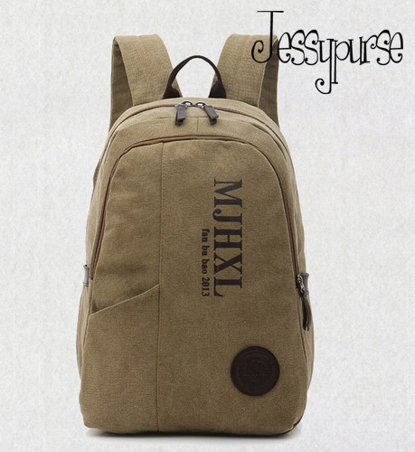 NWT Vintage Backpack Solid Laptop Bag Mens' Travel Casual Canvas Men Charm - Jessy Yang's store