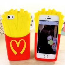 5 5S Phone Case potato chips French fries silicone protector Guard Cover for iPhone 6 6S 6 Plus6S Plus 5.5 Soft TPU Shell