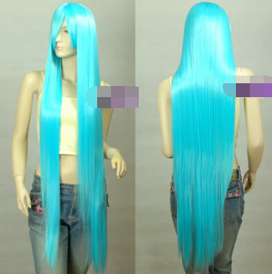 Heat Resistant Cosplay Harajuku Kanekalon Sky Blue 1.2m Ex- Long Wigs for women wig<br><br>Aliexpress