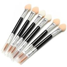 New Makeup Tools Double Eye Shadow brush lip brush Sponge Eye Shadow Applicator for Women Lady Beauty(China (Mainland))