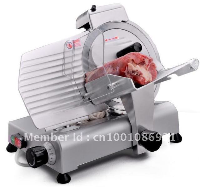 """10"""" semi automatic electric frozen meat slicer,meat slicing machine"""