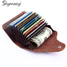Slymaoyi Genuine Leather Unisex Card Holder Wallets High Quality Female Credit Card Holders Women Pillow Organizer Purse(China (Mainland))